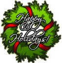 Happy Holiday Wreath
